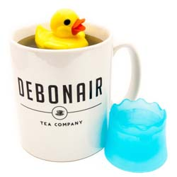Yellow Rubber duck tea infuser